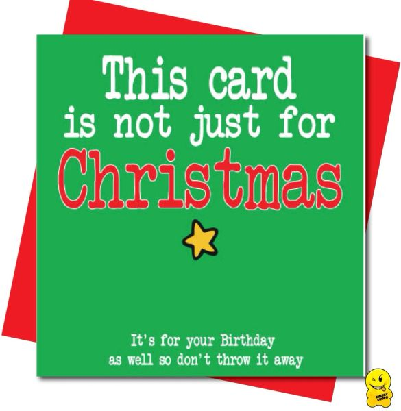 This card is not just for Christmas