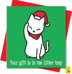 Your gift is in the litter tray