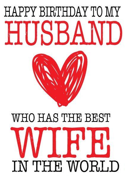 HAPPY BIRTHDAY HUSBAND - BEST WIFE CARD - C61