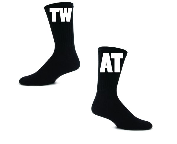 OFFENSIVE Novelty Swearing Socks - TW AT SOCKS