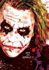 Glen Stone - The Joker Heath Ledger Birthday Card GS02