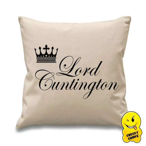Lord Cuntington Cheeky Chops Cushion Cus02