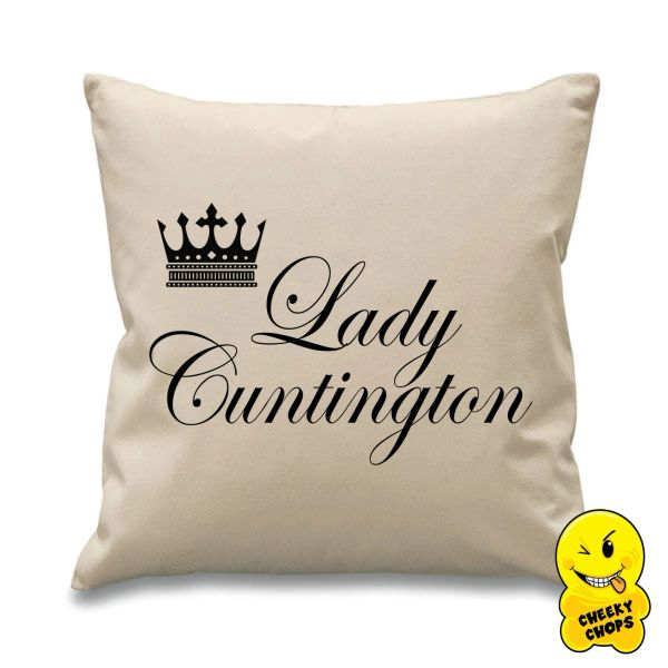 Lady Cuntington Cheeky Chops Cushion Cus03