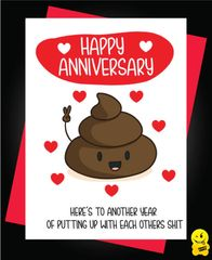 Card - Happy Anniversary - Here's to another year - Anniversary A42