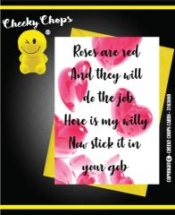 Card - Roses are red and they will do the job - Anniversary A15