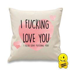 Cheeky Cushion I fucking love you CUSH09