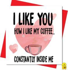 """""""I LIKE YOU HOW I LIKE MY COFFEE...CONSTANTLY INSIDE ME V105"""