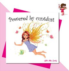 Little Miss Cunty Greeting Card - Little Miss Cunty Greeting Card - Powered by CUNT Dust LMC09