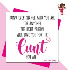 Little Miss Cunty Greeting Card - The Cunt you are LMC02