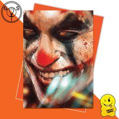 Glen Stone Illustrations Birthday Card -The Joker Joaquin Phoenix GS13