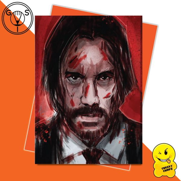 Glen Stone Illustrations Birthday Card - John Wick GS15