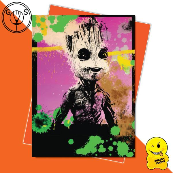 Glen Stone Illustrations Birthday Card - Baby Groot GS16