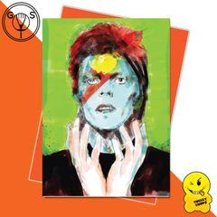 Glen Stone Illustrations Birthday Card - David Bowie GS17