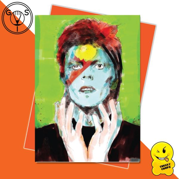 Glen Stone Illustrations Birthday Card - David Bowie GS17