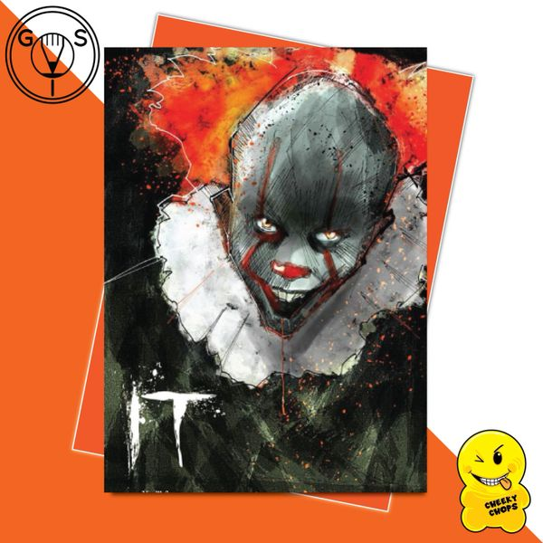 Glen Stone Illustrations Birthday Card - IT Pennywise GS18