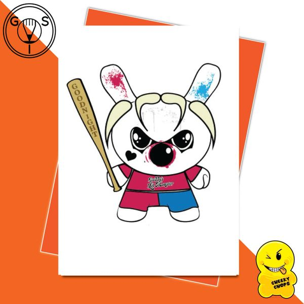 Glen Stone Illustrations Birthday Card - Harley Quinn GS19