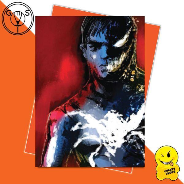 Glen Stone Illustrations Birthday Card - Venom Tom Hardy GS20