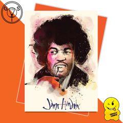 Glen Stone Illustrations Birthday Card - Jimi Hendrix GS21