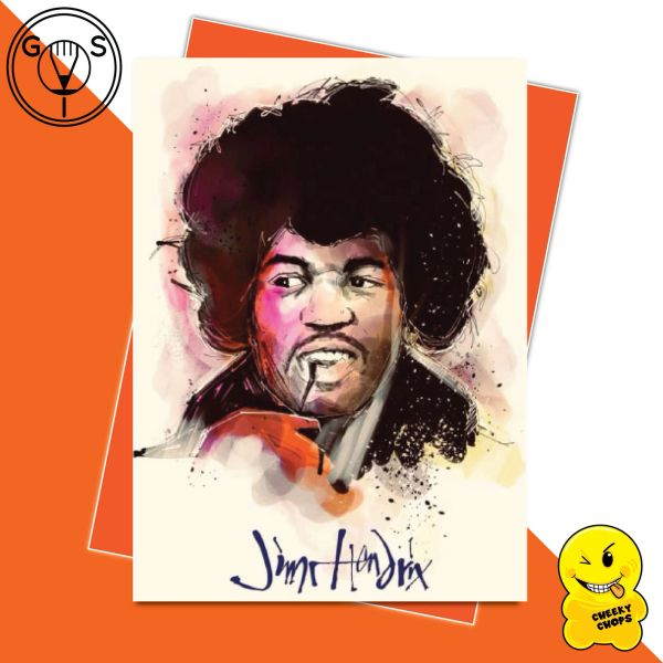 Glen Stone Illustrations Birthday Card - Jimi Hendrix GS21