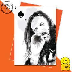 Glen Stone Illustrations Birthday Card - Lemmy Motorhead GS25
