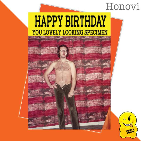 Cheeky Honovi Birthday Cards - Happy Birthday you lovely looking specimen HON16