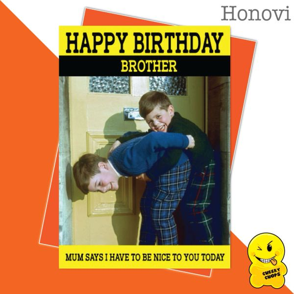 Cheeky Honovi Birthday Cards - Brother HON18