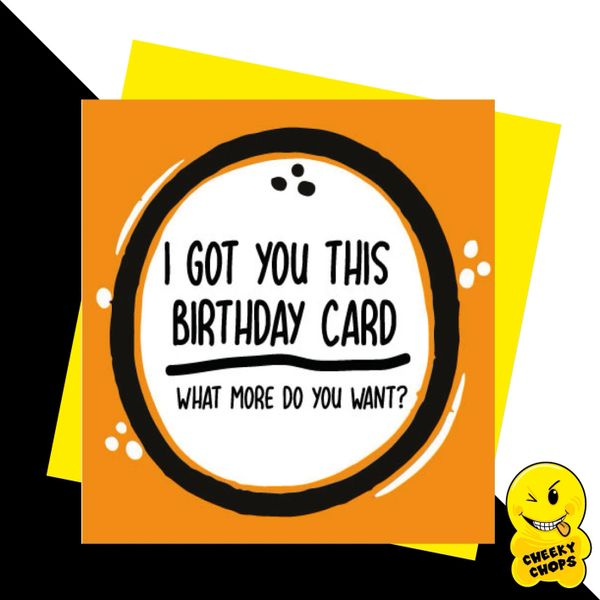 I got you this Birthday Card JC01