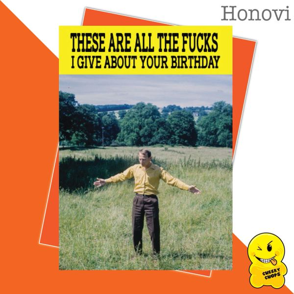 These are all the fucks I give about your birthday HON03