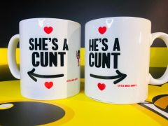 Little Miss Cunty Mugs He's a cunt, She's a cunt 2 mugs LMC21