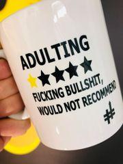 The British Feed - Adulting MUG - BF01