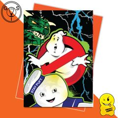 Glen Stone - Ghost Buster 80's cult Film Stay Puft Greeting Card GS11