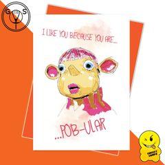 Glen Stone - Pob Cult TV Show Greeting Card GS05