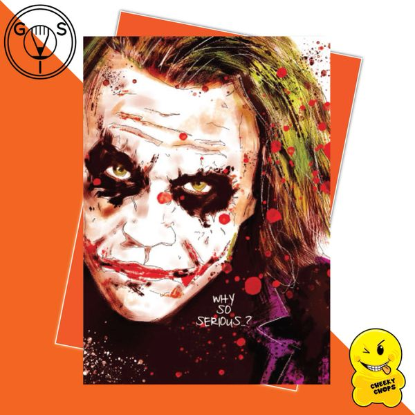 Glen Stone - The Joker Heath Ledger Birthday Card GS02