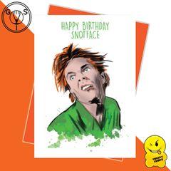 Glen Stone - Drop Dead Fred - Happy Birthday Snotface Birthday Card GS01