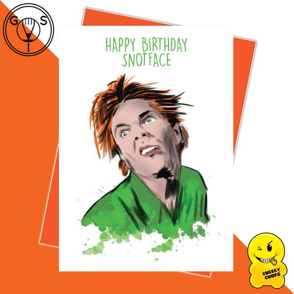 Glen Stone - Drop Dead Fred - Happy Birthday Snotface Birthday Card GS01