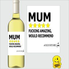 Mum rating wine labe M69