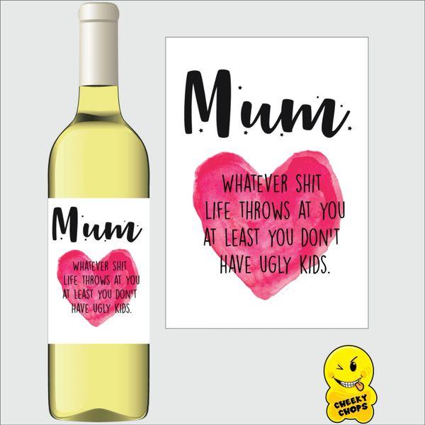 Mum wine labe M25