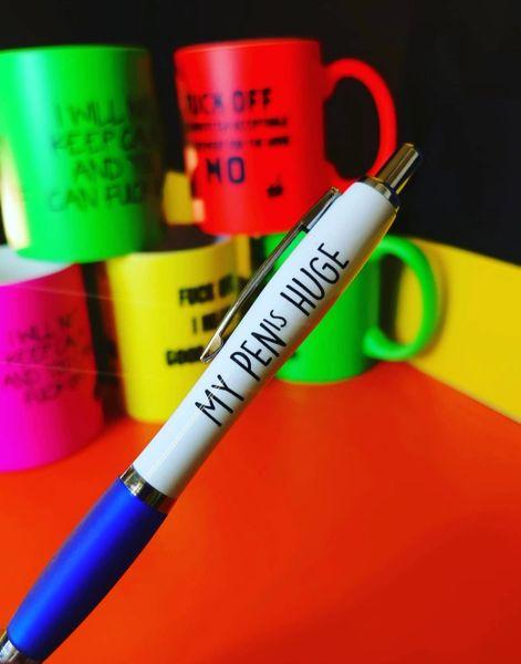 Cheeky Funny Profanity Pen - MY PENis HUGE PEN03