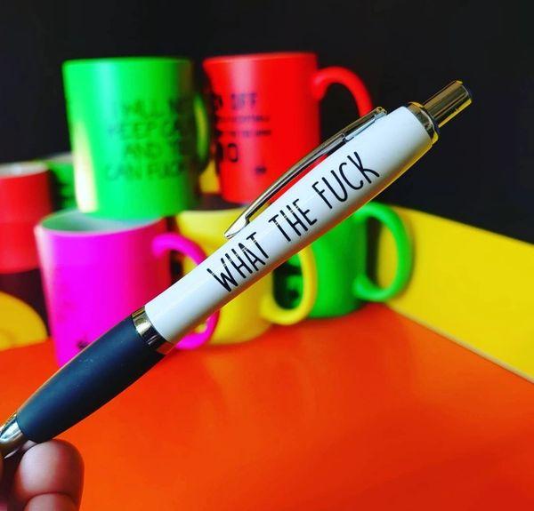 Cheeky Funny Profanity Pen - WHAT THE FUCK