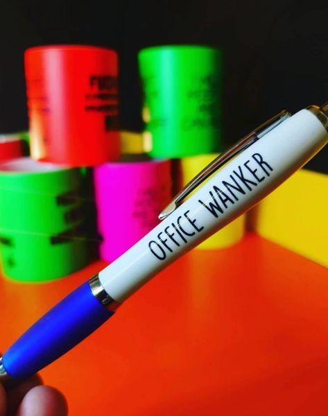Cheeky Funny Profanity Pen - OFFICE WANKER PEN17