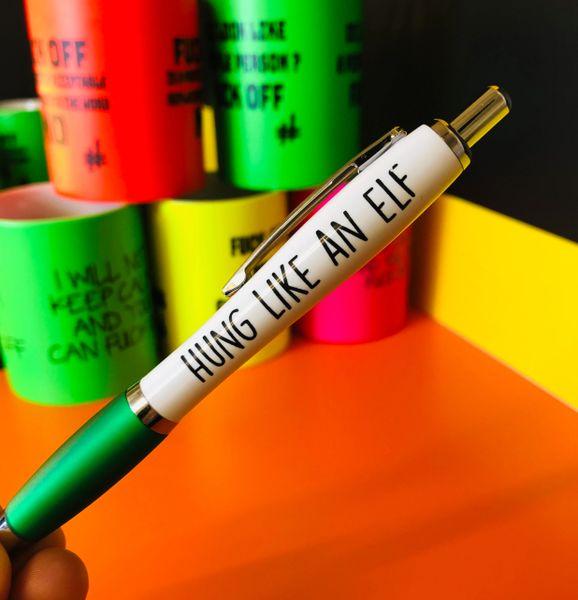 Christmas Profanity Pen - HUNG LIKE AN ELF PEN21