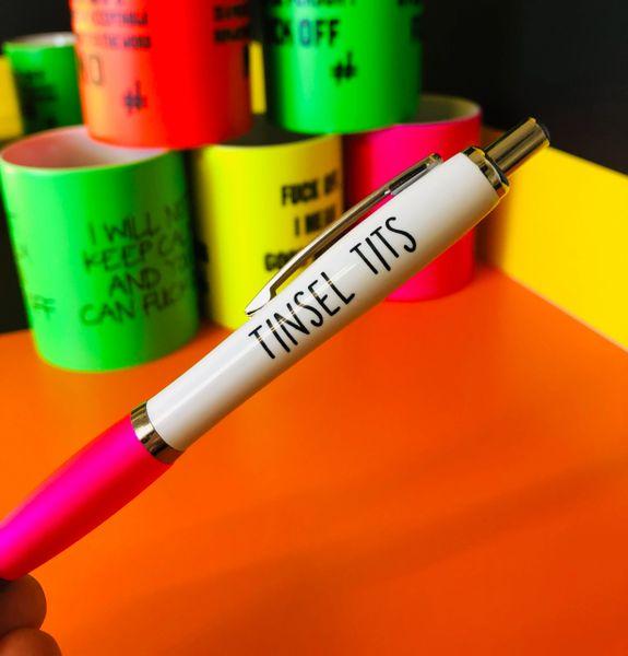 Funny Profanity Pen - TINSEL TITS PEN23