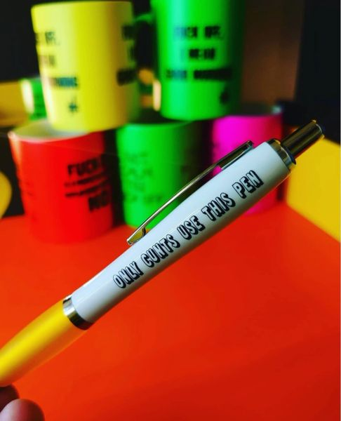 Funny Cheeky Profanity Pen - ONLY CUNTS USE THIS PEN - PEN28