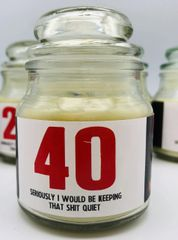 Wanky Candle - Novelty Gift Candle - 40 Seriously I would be keeping that shit quite - WC42