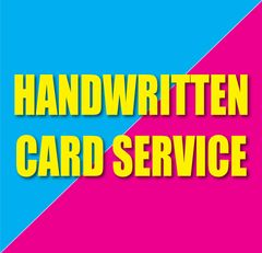 HANDWRITTEN CARD SERVICE - ADD TO ANY CARD