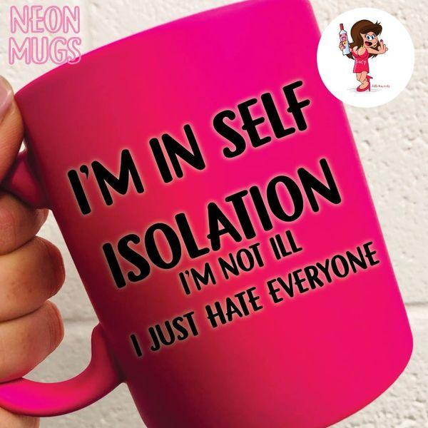 Little Miss Cunty Neon Pink Mug- SELF ISOLATING - LMNEON01