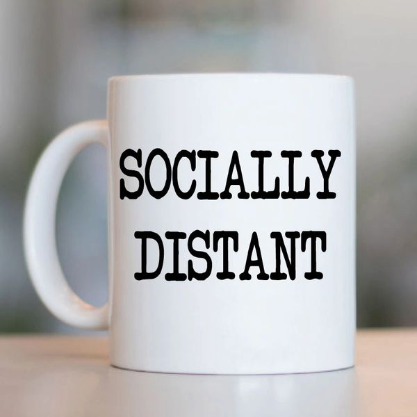Cheeky Mug - Socially Distant - MUG721