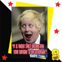 Boris Johnson - Your Birthday is on lockdown CV10