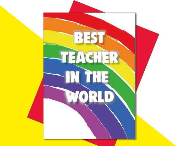 Teacher card - Best teacher in the world! K24