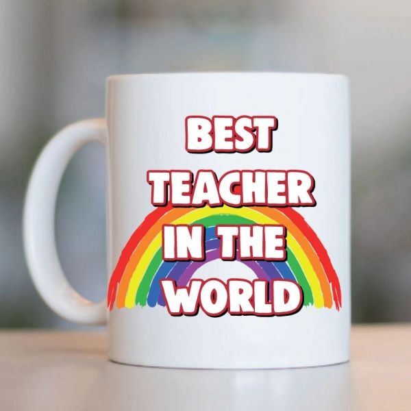 Teacher Mug- Best teacher in the world! MUG- K24